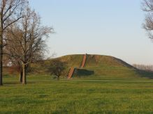 Present Day Cahokia Mound, Remnants of a Lost Native Metropolis Near East St Louis